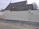 Portails Nantes : R�alisation rue Beaus�jour � SAUTRON. Portail aluminium coulissant.